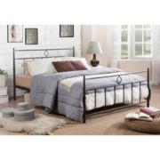 Baxton Studio Ester Victorian Iron Metal Platform Bed