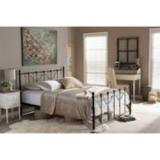 Baxton Studio Jessie Chic Iron Metal Platform Bed
