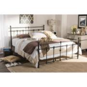 Baxton Studio Belinda Chic Iron Platform Bed