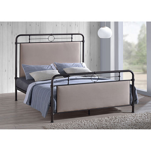 Baxton Studio Jina Upholstered Bed