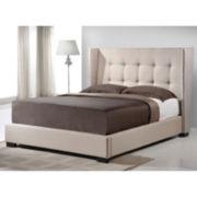 Baxton Studio Favela Modern Linen Upholstered Bed