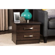 Baxton Studio Colburn Wood Nightstand