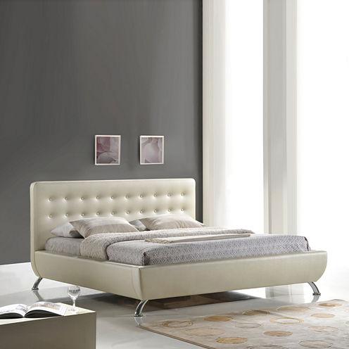 Baxton Studio Elizabeth Modern Upholstered Bed
