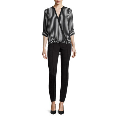jcpenney.com | nicole by Nicole Miller® Long-Sleeve Striped Surplus Top or Ankle Pants