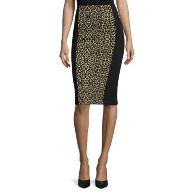 jcpenney.com | nicole by Nicole Miller® Animal-Print Pencil Skirt
