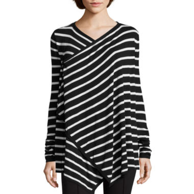 jcpenney.com | nicole by Nicole Miller® Striped Cardigan