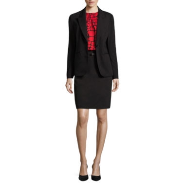 jcpenney.com | Liz Claiborne® One-Button Jacket, Tortoise Blouse or Belted Skirt
