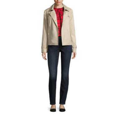 jcpenney.com | Liz Claiborne® Trench Coat, Tortoise Blouse or Skinny Jeans
