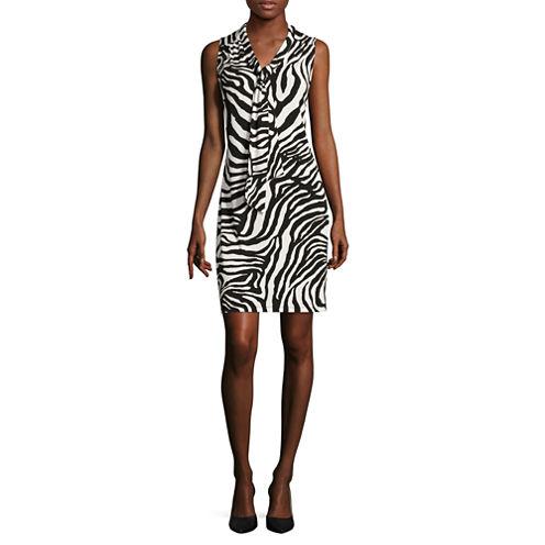 Liz Claiborne® Sleeveless Zebra Dress - Tall