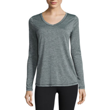 jcpenney.com | Xersion™ Long-Sleeve Melange Tee - Tall