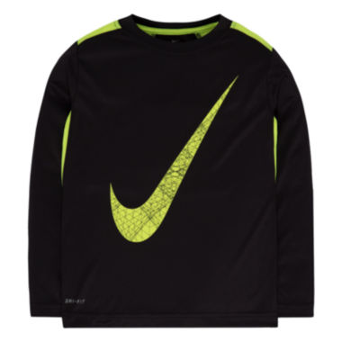 jcpenney.com | Nike® Long-Sleeve Dri-FIT Tee - Preschool Boys 4-7
