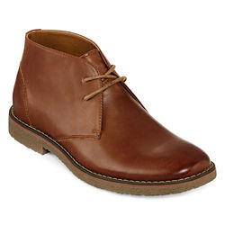 St. Johns Bay Clutch Mens Leather Boots (Tan / Brown)