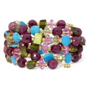 Mixit™ Multicolor Bead and Shell Coil Bracelet