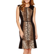 nicole by Nicole Miller® Sleeveless Animal Print Fit-and-Flare Dress
