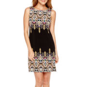nicole by Nicole Miller® Sleeveless Print Shift Dress