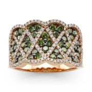 CLOSEOUT! Le Vian Exotics® 1⅜ CT. T.W. White and Color-Enhanced Green Diamond Ring