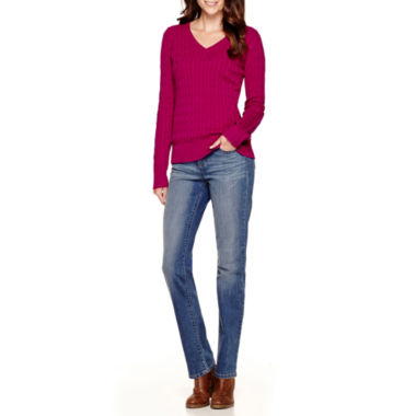 jcpenney.com | St. John's Bay® V-Neck Sweater or Straight-Leg Jeans - Tall