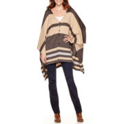 Stylus™ Striped Poncho or Straight-Leg Jeans - Tall
