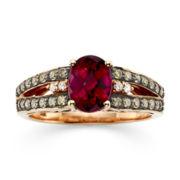 CLOSEOUT! Le Vian Chocolatier® Genuine Rhodolite, White and Chocolate Diamond® Ring