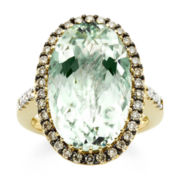 CLOSEOUT! Le Vian® Genuine Green Amethyst and Diamond Ring