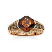 CLOSEOUT! Le Vian Chocolatier® Genuine Smoky Quartz and Diamond Ring