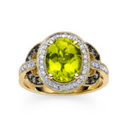 CLOSEOUT! LeVian Grand Sample Sale Chocolatier® Genuine Peridot and Diamond Ring