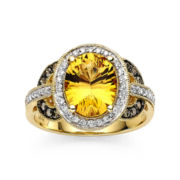 CLOSEOUT! Le Vian Chocolatier® Genuine Citrine and Diamond Ring