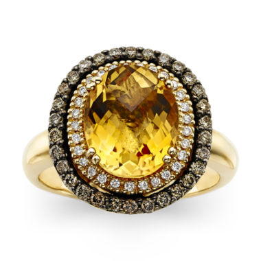 jcpenney.com | LIMITED QUANTITIES  LeVian Grand Sample Sale Deco Estate Collection™ Genuine Citrine and Diamond Ring
