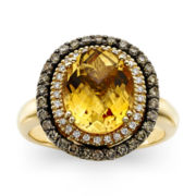 CLOSEOUT! Le Vian® Deco Estate Collection™ Genuine Citrine and Diamond Ring