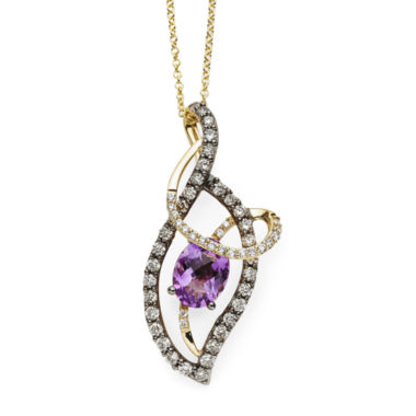 jcpenney.com | LIMITED QUANTITIES  LeVian Grand Sample SaleChocolatier® Genuine Amethyst and Diamond Pendant Necklace