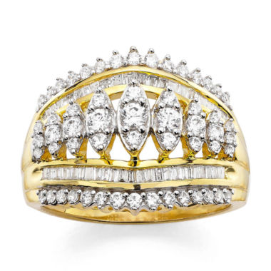 jcpenney.com | 1 CT. T.W. Diamond 10K Yellow Gold Cocktail Ring