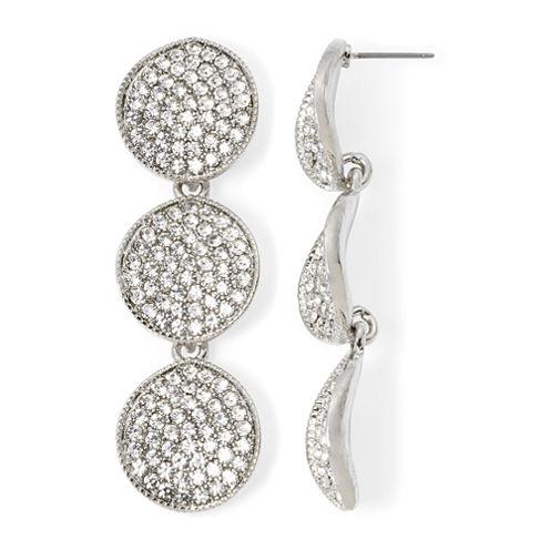 Natasha Crystal Disk Drop Earrings