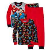 Justice League 4-pc. Cotton Pajama Set - Boys 4-10