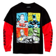 Justice League Long-Sleeve Layered Tee - Boys 8-20