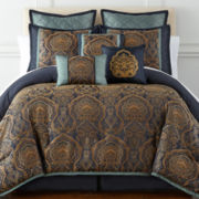 Home Expressions™ Navarro 7-pc. Jacquard Comforter Set & Accessories