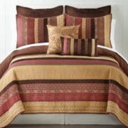 Home Expressions™ Paisley Stripe Quilt & Accessories