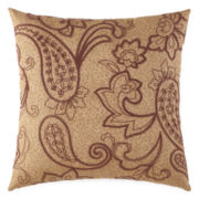 Home Expressions™ Paisley Stripe Square Decorative Pillow