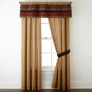 Home Expressions™ Paisley Stripe 2-Pack Curtain Panels