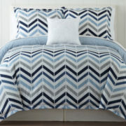 JCPenney Home™ Cotton Classics Chevron Reversible Comforter & Accessories