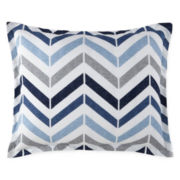 JCPenney Home™ Cotton Classics Chevron Reversible Pillow Sham