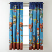 Paw Patrol Paw-Some Room-Darkening Rod-Pocket/Back-Tab Curtain Panel