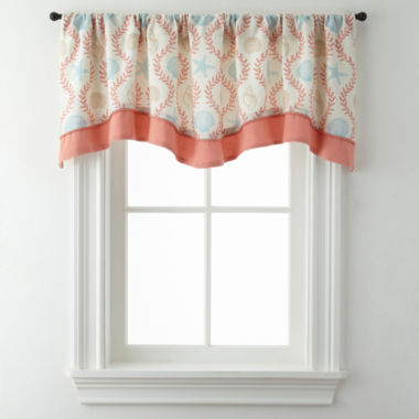jcpenney.com | Sea Scroll Double Layer Rod-Pocket Valance