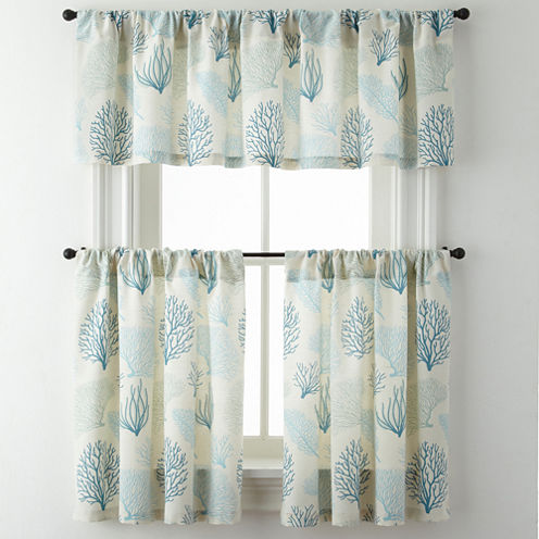 Coraline Rod-Pocket Kitchen Curtains