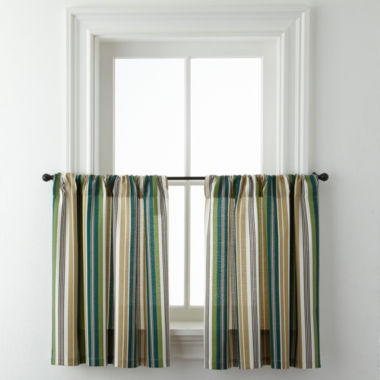 jcpenney.com | Forest Stripe Rod-Pocket Window Tiers