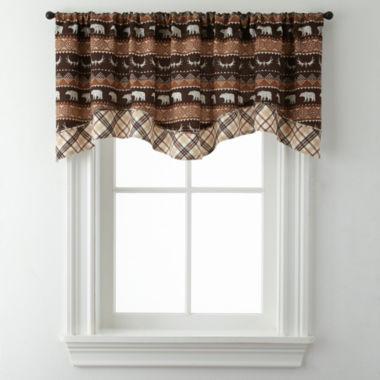 jcpenney.com | Bear Trail Double Layer Rod-Pocket Valance