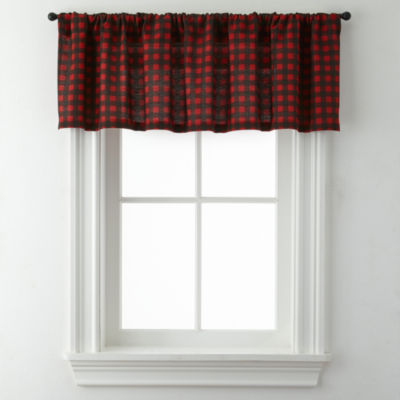 Jackson Plaid Rod-Pocket Valance
