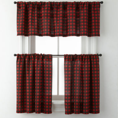 jcpenney.com | Jackson Plaid Rod-Pocket Kitchen Curtains