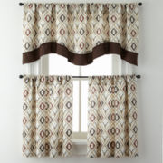 Cabin Trellis Rod-Pocket Kitchen Curtains