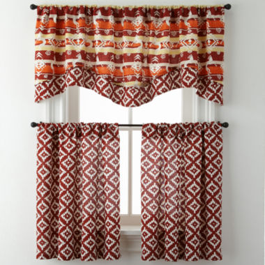 jcpenney.com | Kokopelli or Desert Diamond Rod-Pocket Diamond Kitchen Curtains