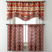 Kokopelli or Desert Diamond Rod-Pocket Diamond Kitchen Curtains
